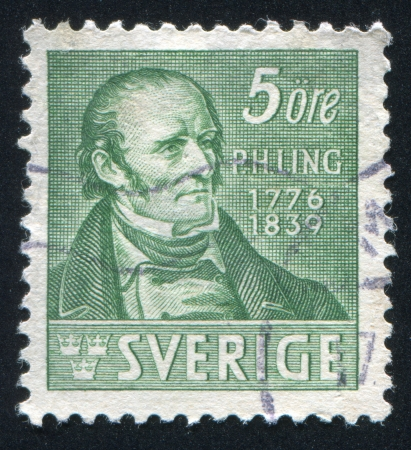 SWEDEN - CIRCA 1939: stamp printed by Sweden, shows Per Henrik Ling, circa 1939