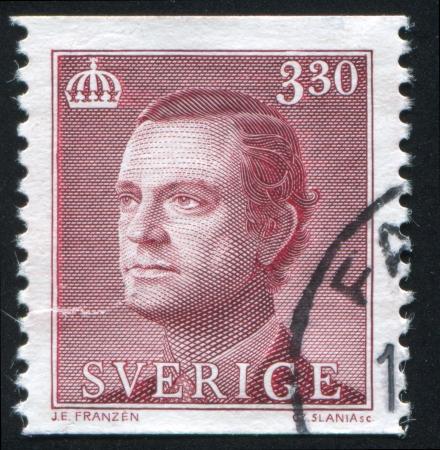 gustaf: SWEDEN - CIRCA 1989: stamp printed by Sweden, shows Karl XVI Gustaf, circa 1989