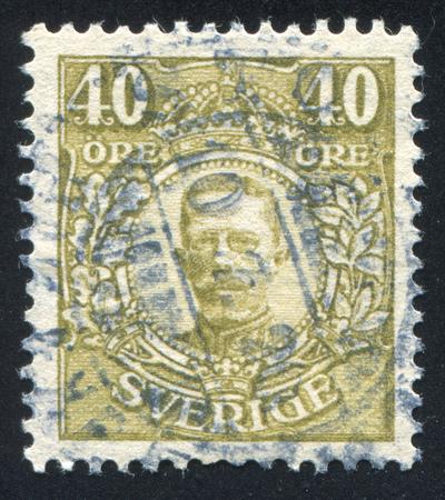 gustaf: SWEDEN - CIRCA 1912: stamp printed by Sweden, shows Gustaf V, circa 1912