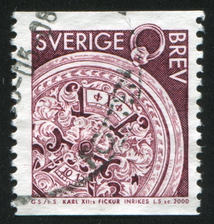 showpiece: SWEDEN - CIRCA 2000: stamp printed by Sweden, shows Watch of King Karl XII, circa 2000 Editorial