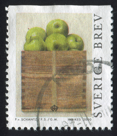 SWEDEN - CIRCA 2000: stamp printed by Sweden, shows Peck of Apples by Philip von Schantz, circa 2000