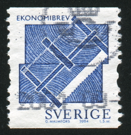 SWEDEN - CIRCA 2004: stamp printed by Sweden, shows Saw, circa 2004