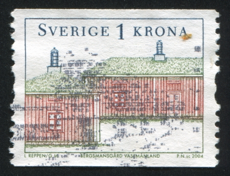 SWEDEN - CIRCA 2004: stamp printed by Sweden, shows Miners house, circa 2004