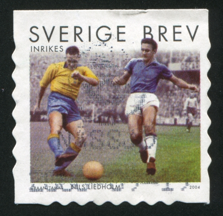 ancient pass: SWEDEN - CIRCA 2004: stamp printed by Sweden, shows Nils Liedholm, circa 2004