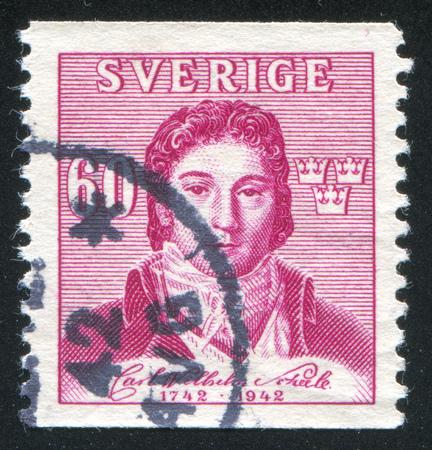 boffin: SWEDEN - CIRCA 1942: stamp printed by Sweden, shows Karl Wilhelm Sheele, circa 1942