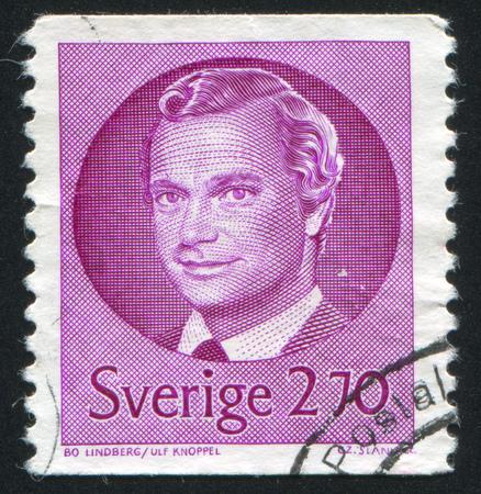 SWEDEN - CIRCA 1981: stamp printed by Sweden, shows King Carl XVI Gustaf, circa 1981. Editorial