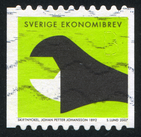 movable jaw: SWEDEN - CIRCA 2007: stamp printed by Sweden, shows Adjustable wrench, by Johan Petter Johansson, circa 2007 Editorial
