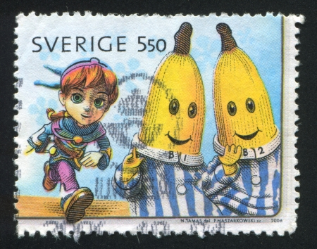 loophole: SWEDEN - CIRCA 2006: stamp printed by Sweden, shows Loophole, Bananas in Pajamas, circa 2006