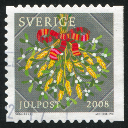 SWEDEN - CIRCA 2008: stamp printed by Sweden, shows Sheaf of wheat, circa 2008 Stock Photo - 25219072