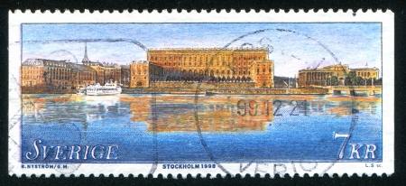 SWEDEN - CIRCA 1998: stamp printed by Sweden, shows Stockholm Palace, circa 1998