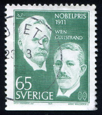 boffin: SWEDEN - CIRCA 1971: stamp printed by Sweden, shows Wilhelm Wien and Alvar Gullstrand, circa 1971