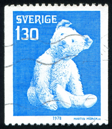 poppet: SWEDEN - CIRCA 1978: stamp printed by Sweden, shows Teddy bear, circa 1978 Editorial