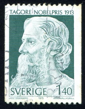 tagore: SWEDEN - CIRCA 1973: stamp printed by Sweden, shows Rabindranath Tagore, circa 1973
