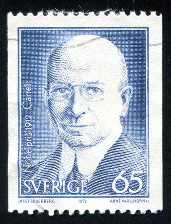 savant: SWEDEN - CIRCA 1972: stamp printed by Sweden, shows Alexis Carrel, circa 1972