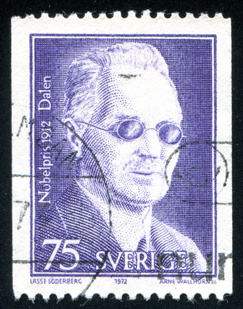 SWEDEN - CIRCA 1972: stamp printed by Sweden, shows Nils Gustaf Dalen, circa 1972 Editorial