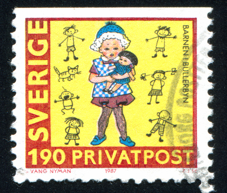 SWEDEN - CIRCA 1987: stamp printed by Sweden, shows Girl, circa 1987
