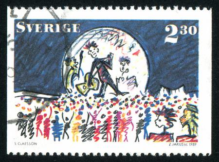 SWEDEN - CIRCA 1989: stamp printed by Sweden, shows Concert, circa 1989