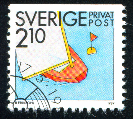 SWEDEN - CIRCA 1989: stamp printed by Sweden, shows Sailing, circa 1989