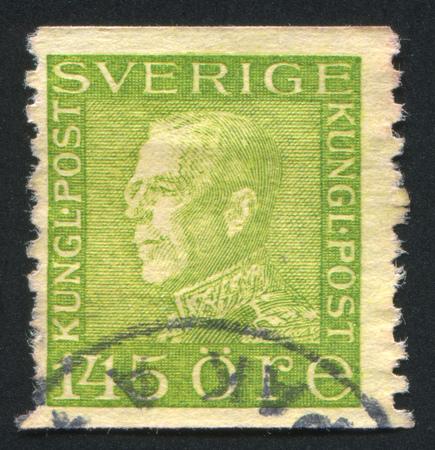 gustaf: SWEDEN - CIRCA 1939: stamp printed by Sweden, shows King Gustaf V, circa 1939.