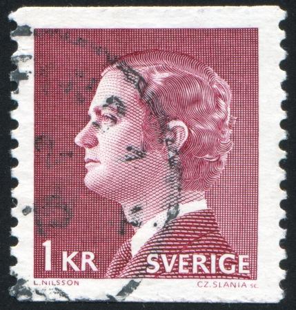 king carl xvi gustaf: SWEDEN - CIRCA 1974: stamp printed by Sweden, shows King Carl XVI Gustaf, circa 1974.