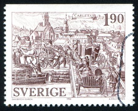 karlstad: SWEDEN - CIRCA 1984: stamp printed by Sweden, shows Karlstad, circa 1984