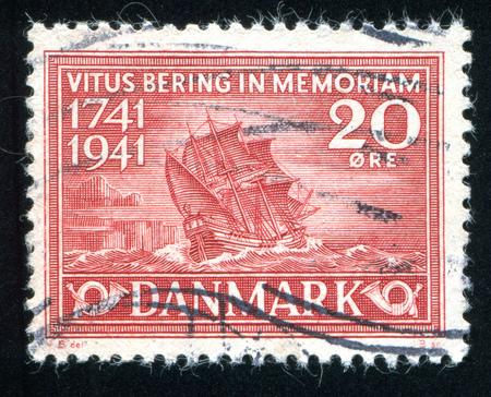 maneuverable: DENMARK - CIRCA 1941: stamp printed by Denmark, shows Bering Ship, circa 1941