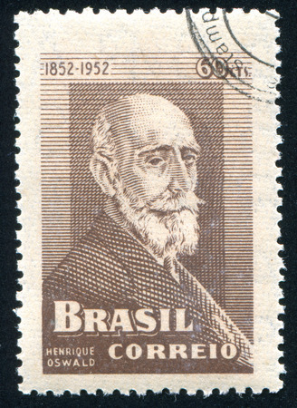 oswald: BRAZIL - CIRCA 1952: stamp printed by Brazil, shows  Henrique Oswald, circa 1952