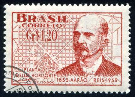 BRAZIL - CIRCA 1953: stamp printed by Brazil, shows  Aarao Leal de Carvalho Reis civil engineer, circa 1953