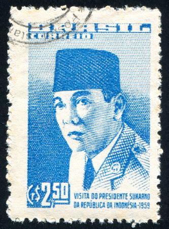 sukarno: BRAZIL - CIRCA 1959: stamp printed by Brazil, shows  Joachim Silverio de Souza, circa 1959 Editorial