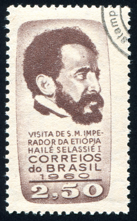 selassie: BRAZIL - CIRCA 1960: stamp printed by Brazil, shows  Emperor Haile Selassie of Ethiopia, circa 1960
