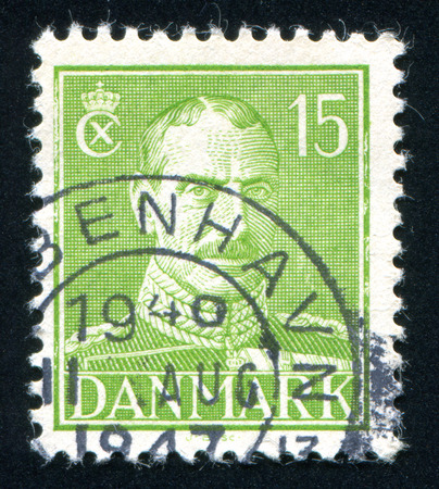 the statesman: DENMARK - CIRCA 1942: stamp printed by Denmark, shows King Christian X, circa 1942
