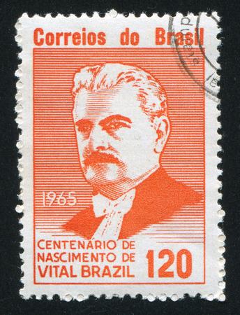 vital: BRAZIL - CIRCA 1965: stamp printed by Brazil, shows  Vital Brazil, circa 1965