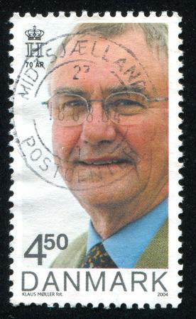 prince of denmark: DENMARK - CIRCA 2004: stamp printed by Denmark, shows Prince Henrik, circa 2004