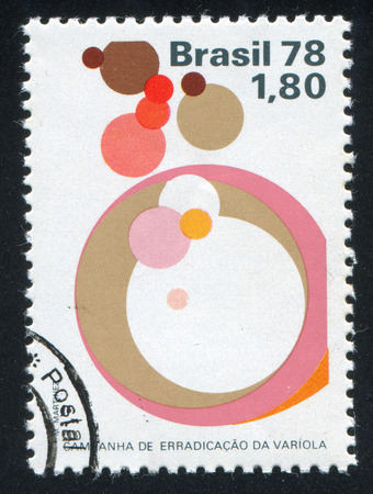 smallpox: BRAZIL - CIRCA 1978: stamp printed by Brazil, shows  Symbolic of Smallpox Eradication, circa 1978