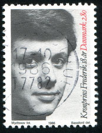prince of denmark: DENMARK - CIRCA 1986: stamp printed by Denmark, shows Crown Prince Frederik, circa 1986