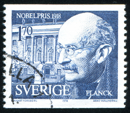 SWEDEN - CIRCA 1978: stamp printed by Sweden, shows Max Planck, circa 1978
