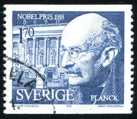planck: SWEDEN - CIRCA 1978: stamp printed by Sweden, shows Max Planck, circa 1978