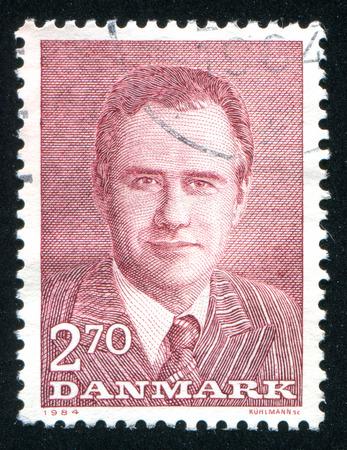prince of denmark: DENMARK - CIRCA 1984: stamp printed by Denmark, shows Prince Henrik, circa 1984 Editorial