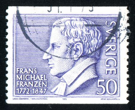 frans: SWEDEN - CIRCA 1972: stamp printed by Sweden, shows Frans Michael Franzen, circa 1972