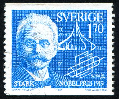 johannes: SWEDEN - CIRCA 1979: stamp printed by Sweden, shows Johannes Stark, circa 1979
