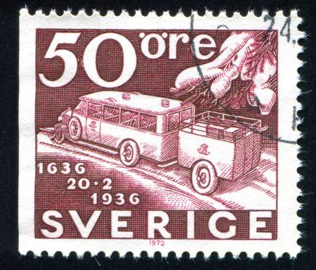 autotruck: Sweden - CIRCA 1936: stamp printed by Sweden, shows truck, circa 1936