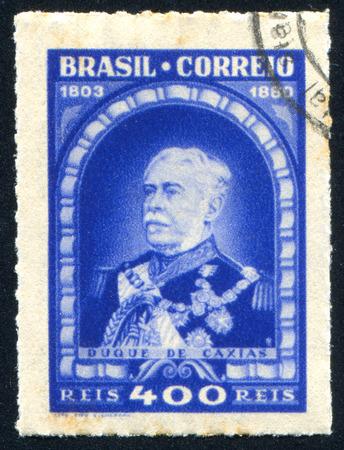 patron: BRAZIL - CIRCA 1939: stamp printed by Brazil, shows  Duke of Caxias Army Patron, circa 1939