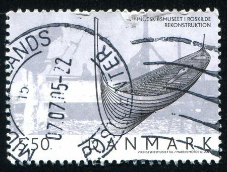 shallop: DENMARK - CIRCA 2004: stamp printed by Denmark, shows Viking Ship, circa 2004