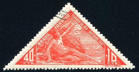 icarus: BRAZIL - CIRCA 1947: stamp printed by Brazil, shows  Icarus, circa 1947 Editorial