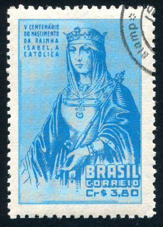 isabel: BRAZIL - CIRCA 1953: stamp printed by Brazil, shows  Princess Isabel, circa 1953