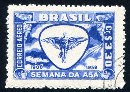 BRAZIL - CIRCA 1959: stamp printed by Brazil, shows  Symbol of Flight, circa 1959