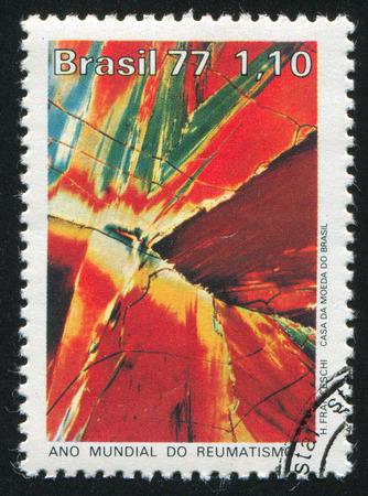 salicylate: BRAZIL - CIRCA 1977: stamp printed by Brazil, shows  Salicylate Microphoto, circa 1977 Editorial