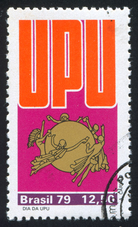 upu: BRAZIL - CIRCA 1979: stamp printed by Brazil, shows  UPU Emblem, circa 1979