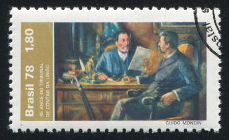 manuel: BRAZIL - CIRCA 1978: stamp printed by Brazil, shows  Inocencio Serzedelo Correa and Manuel Francisco Correa, circa 1978