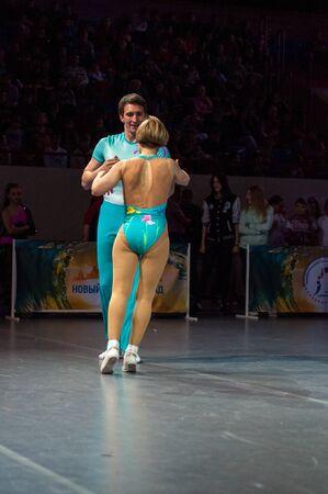 championships: KALININGRAD - MAY 10: European Championships in Acrobatic Rock-n-Roll, 10 May, 2014 in Kaliningrad Russia.